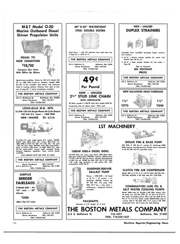 Maritime Reporter Magazine, page 58,  Dec 1981