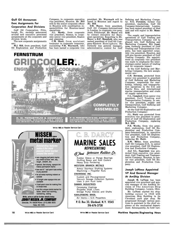 Maritime Reporter Magazine, page 16,  Dec 15, 1981