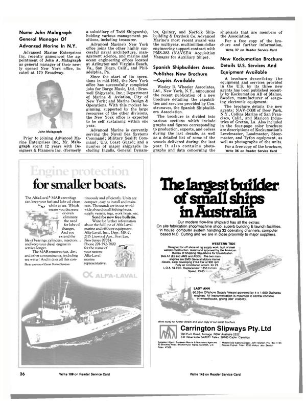 Maritime Reporter Magazine, page 22,  Dec 15, 1981