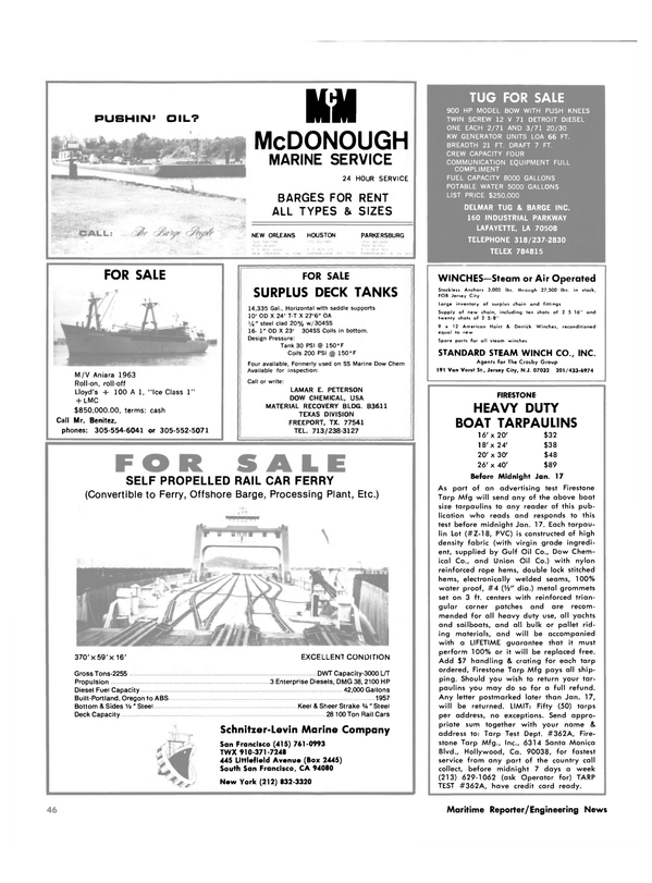 Maritime Reporter Magazine, page 36,  Dec 15, 1981 New Jersey
