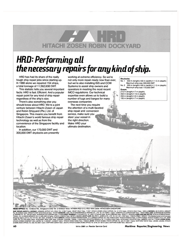 Maritime Reporter Magazine, page 42,  Dec 15, 1981