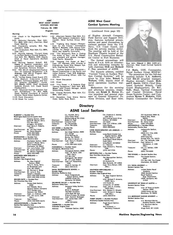 Maritime Reporter Magazine, page 12,  Jan 15, 1983