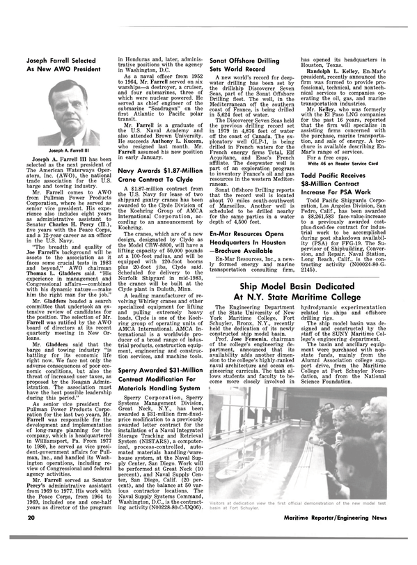 Maritime Reporter Magazine, page 18,  Jan 15, 1983