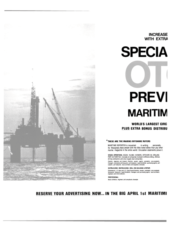 Maritime Reporter Magazine, page 8,  Feb 15, 1983 DRILL RIG BUILDING
