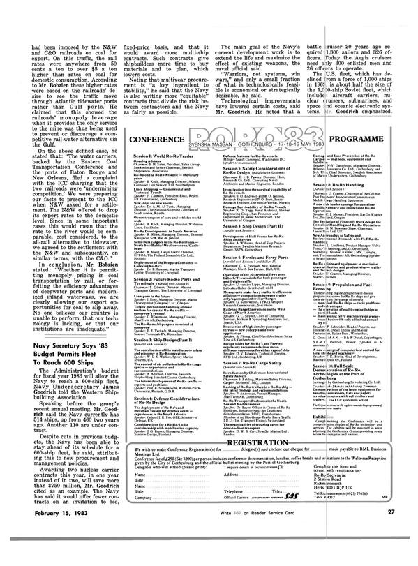 Maritime Reporter Magazine, page 23,  Feb 15, 1983 North Atlantic