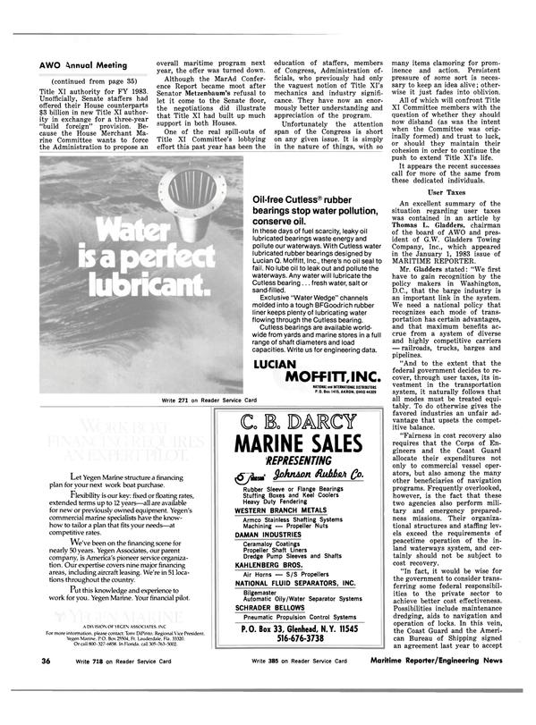 Maritime Reporter Magazine, page 32,  Feb 15, 1983 DARCY MARINE