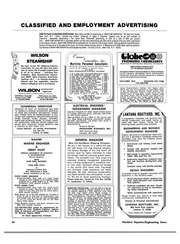 Maritime Reporter Magazine, page 40,  Feb 15, 1983