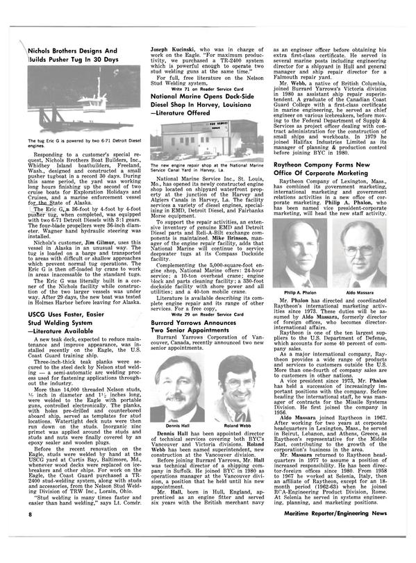 Maritime Reporter Magazine, page 4,  Feb 15, 1983