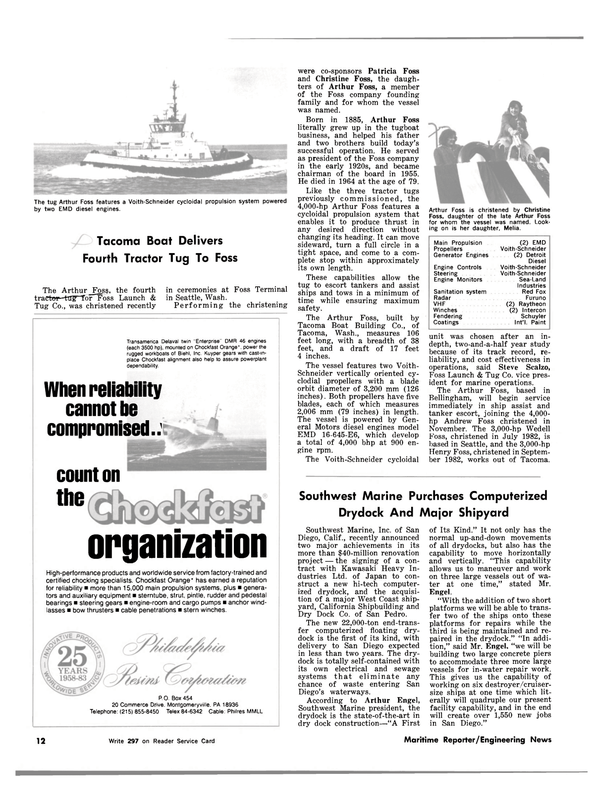 Maritime Reporter Magazine, page 10,  Mar 1983