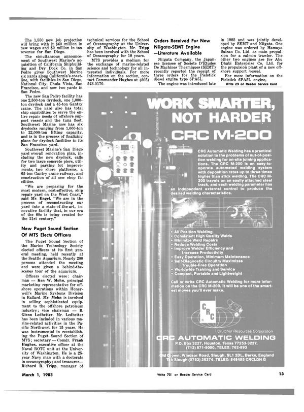 Maritime Reporter Magazine, page 11,  Mar 1983