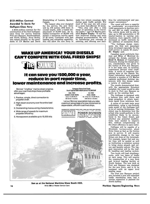 Maritime Reporter Magazine, page 14,  Mar 1983