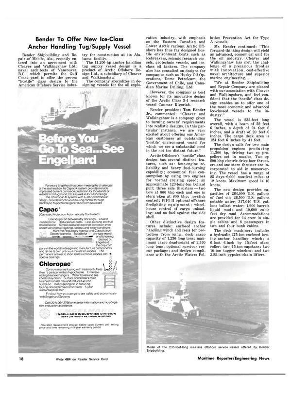 Maritime Reporter Magazine, page 16,  Mar 1983