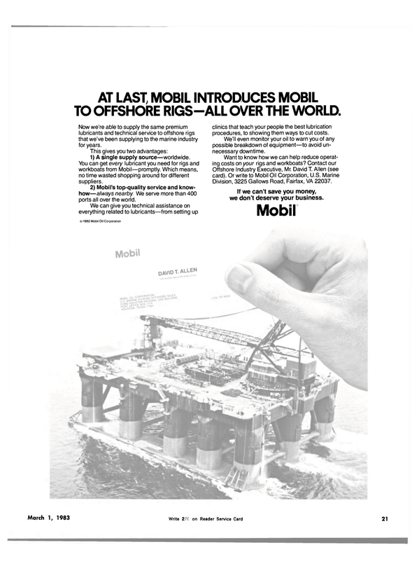 Maritime Reporter Magazine, page 19,  Mar 1983 oil