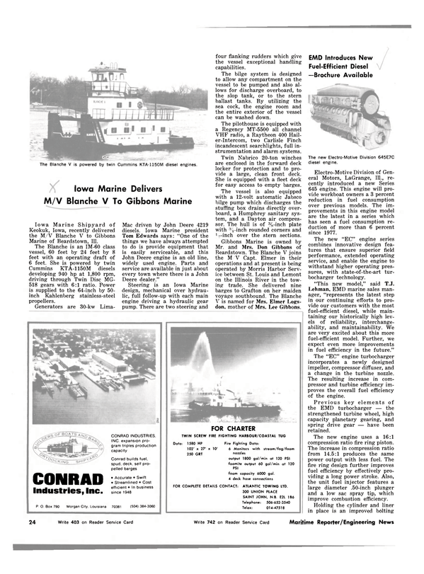 Maritime Reporter Magazine, page 22,  Mar 1983