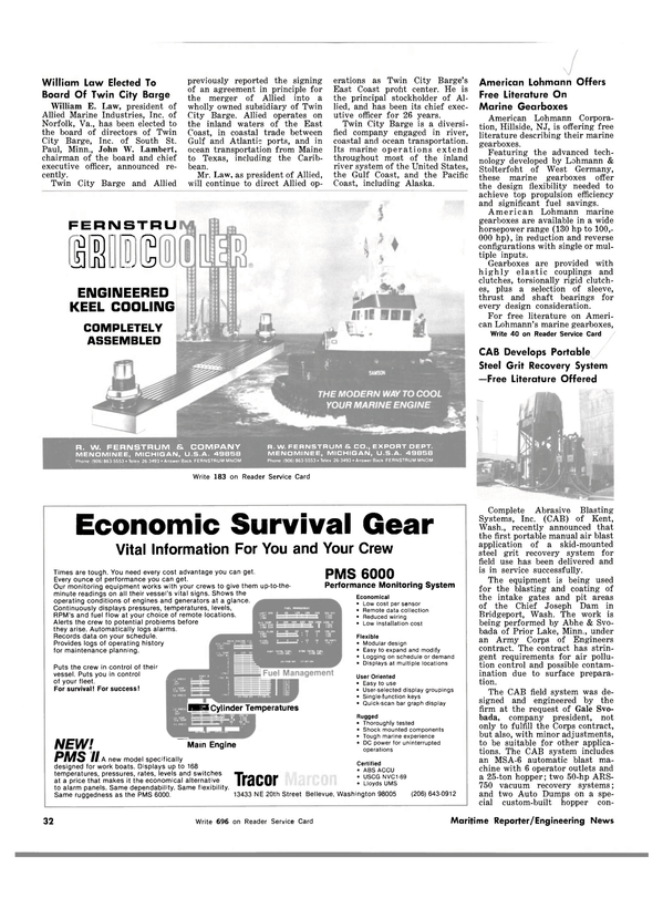 Maritime Reporter Magazine, page 30,  Mar 1983 Maine