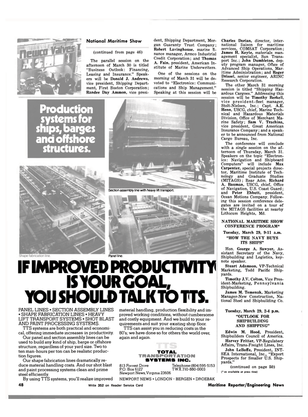 Maritime Reporter Magazine, page 46,  Mar 1983