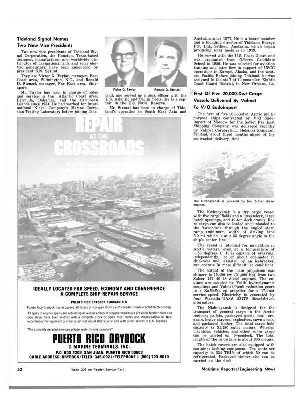 Maritime Reporter Magazine, page 52,  Mar 1983 Caribbean