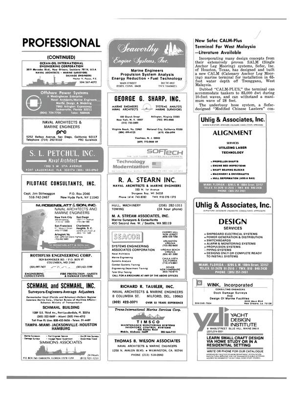 Maritime Reporter Magazine, page 70,  Mar 1983