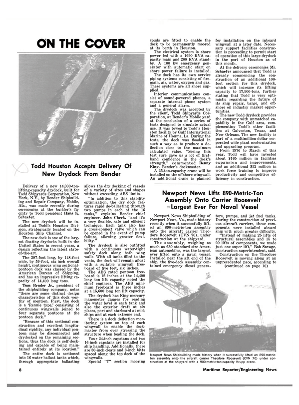 Maritime Reporter Magazine, page 6,  Mar 1983 Virginia
