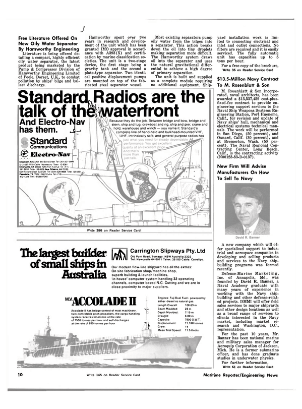 Maritime Reporter Magazine, page 8,  Mar 15, 1983