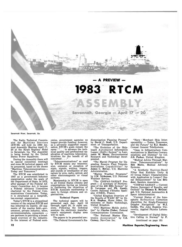 Maritime Reporter Magazine, page 10,  Mar 15, 1983