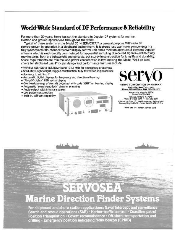 Maritime Reporter Magazine, page 11,  Mar 15, 1983 shore station applications