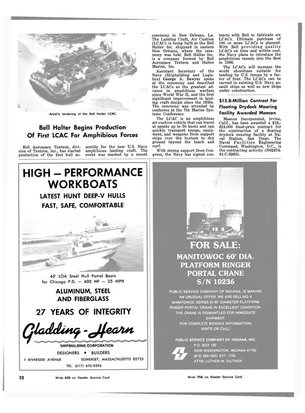 Maritime Reporter Magazine, page 32,  Mar 15, 1983 California