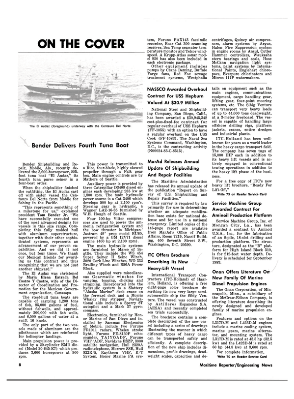 Maritime Reporter Magazine, page 6,  Mar 15, 1983