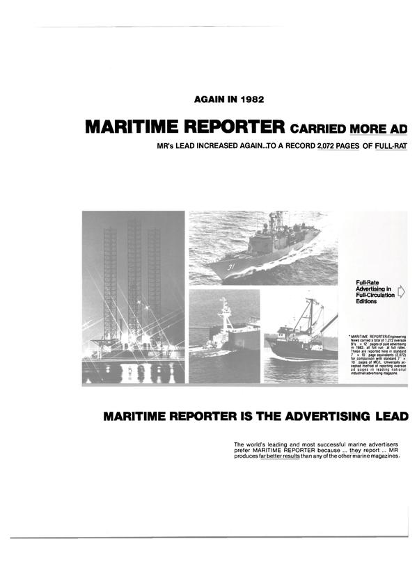Maritime Reporter Magazine, page 40,  Jul 15, 1983 AD MR