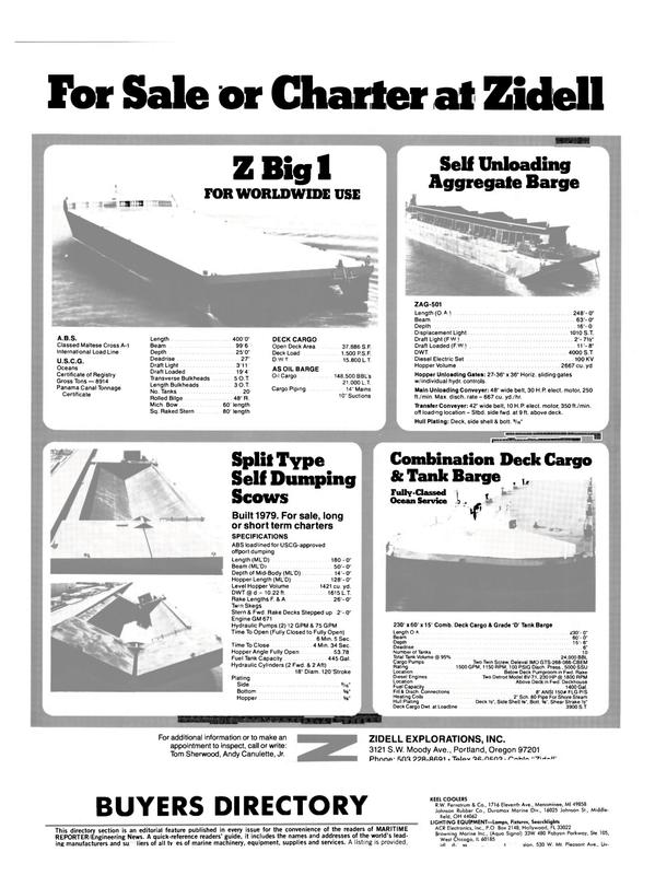 Maritime Reporter Magazine, page 48,  Jul 15, 1983