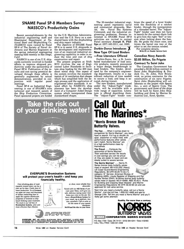 Maritime Reporter Magazine, page 14,  Aug 1983