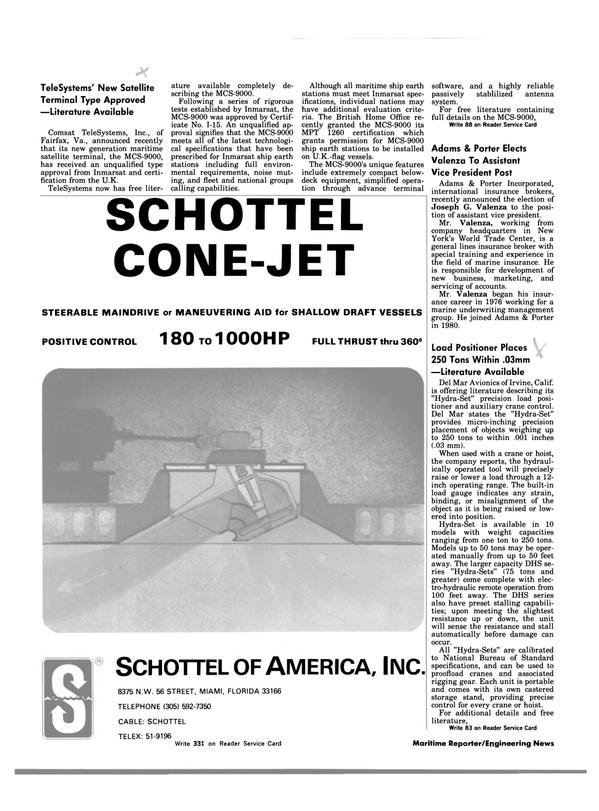Maritime Reporter Magazine, page 18,  Aug 1983