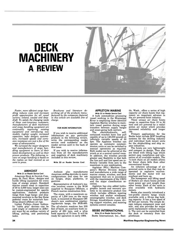 Maritime Reporter Magazine, page 22,  Aug 1983