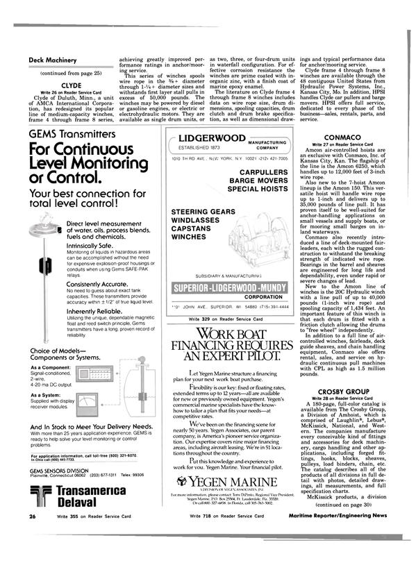 Maritime Reporter Magazine, page 24,  Aug 1983 Florida