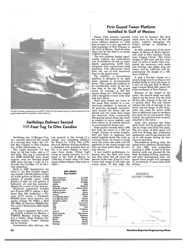 Maritime Reporter Magazine, page 52,  Aug 1983 Marlow Fire-fighting