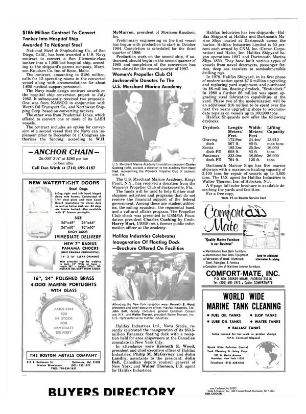 Maritime Reporter Magazine, page 68,  Aug 1983