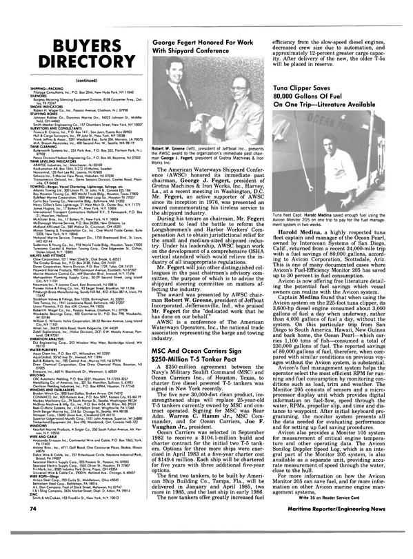 Maritime Reporter Magazine, page 74,  Aug 1983