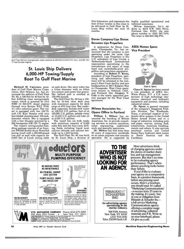 Maritime Reporter Magazine, page 8,  Oct 1983