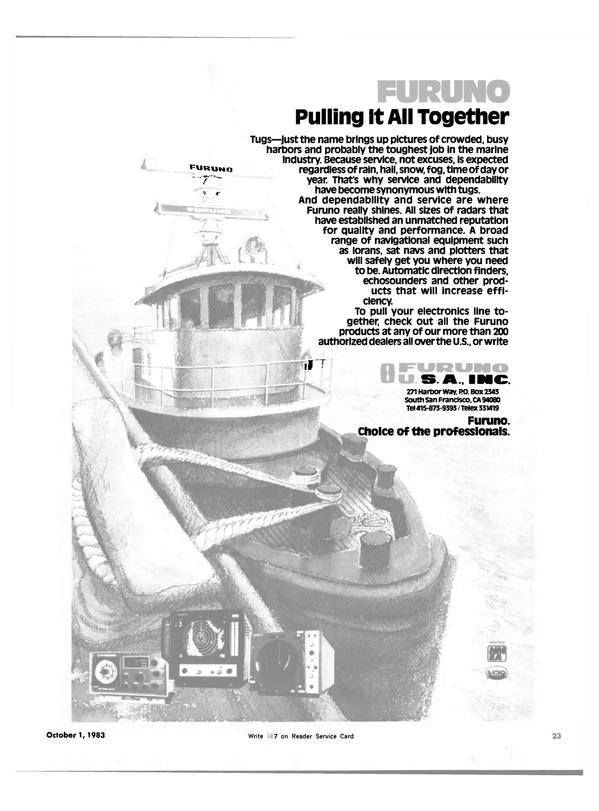 Maritime Reporter Magazine, page 19,  Oct 1983