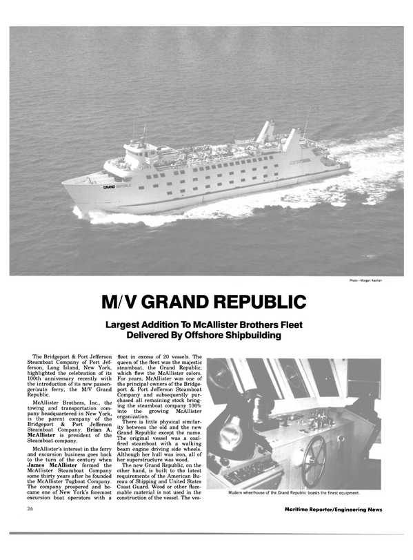 Maritime Reporter Magazine, page 22,  Oct 1983