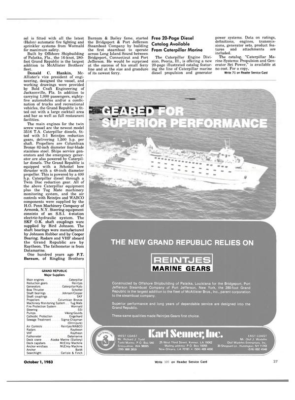 Maritime Reporter Magazine, page 23,  Oct 1983 Washington
