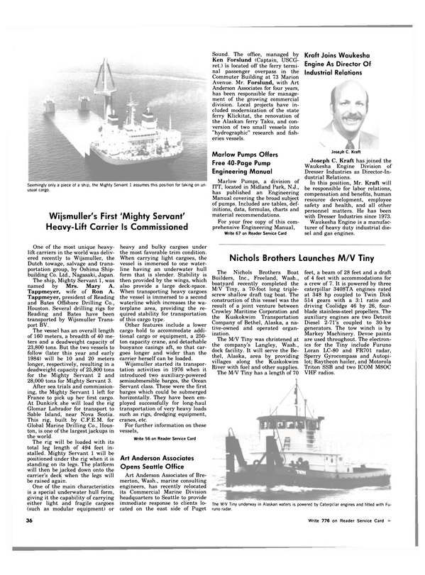 Maritime Reporter Magazine, page 32,  Oct 1983