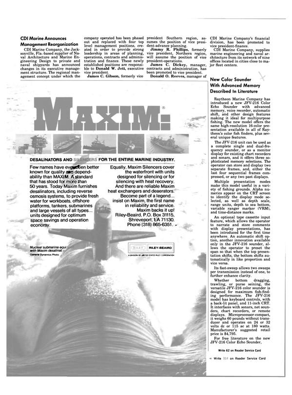 Maritime Reporter Magazine, page 34,  Oct 1983 Louisiana