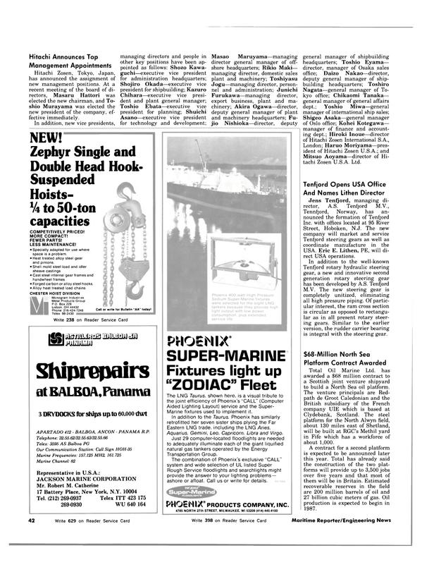 Maritime Reporter Magazine, page 38,  Oct 1983