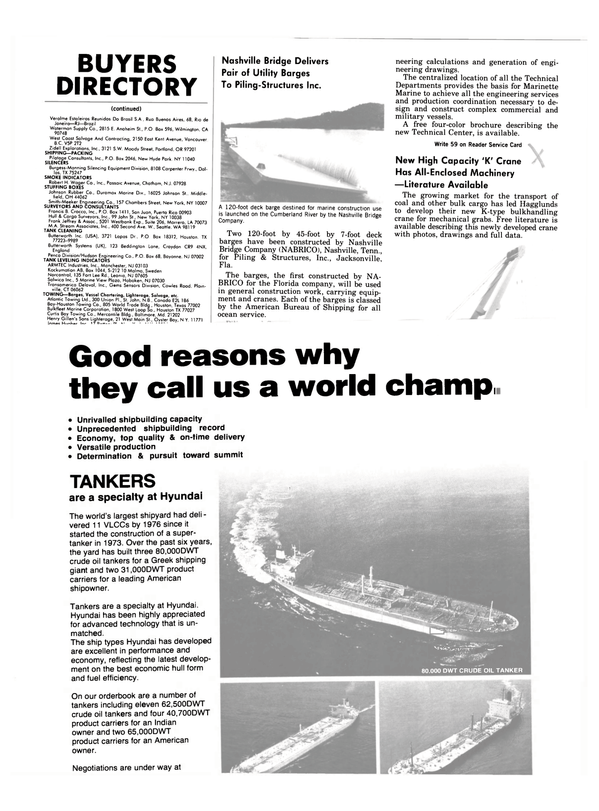 Maritime Reporter Magazine, page 54,  Oct 1983