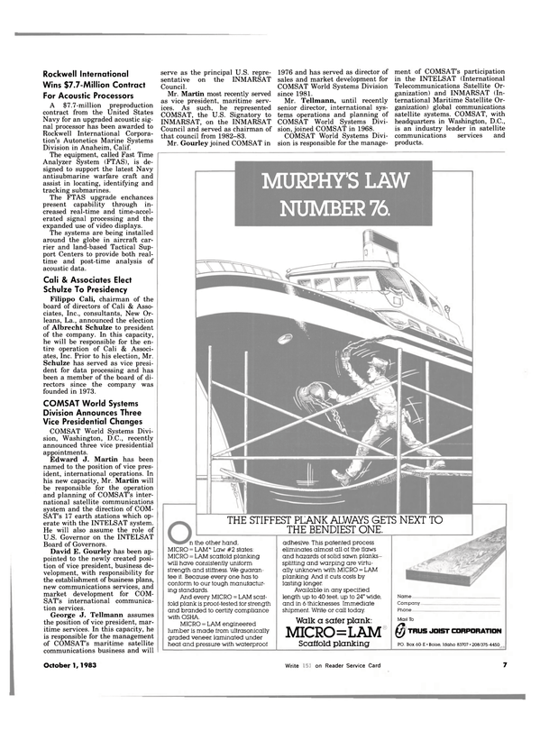 Maritime Reporter Magazine, page 5,  Oct 1983 Idaho