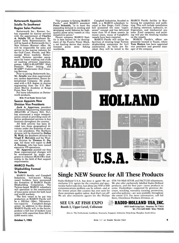 Maritime Reporter Magazine, page 7,  Oct 1983