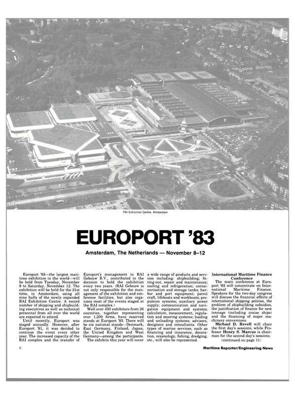 Maritime Reporter Magazine, page 8,  Oct 15, 1983 PAI Exhibition Centre
