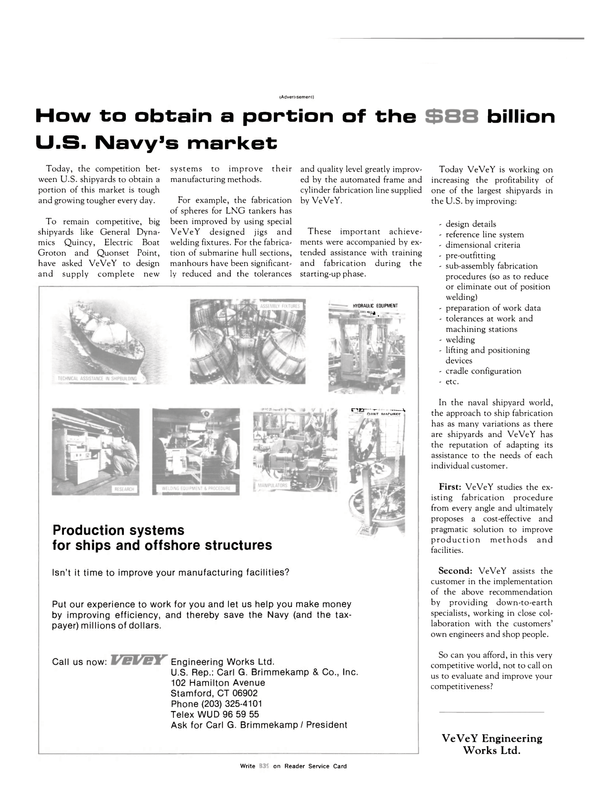 Maritime Reporter Magazine, page 10,  Nov 1983 United States Navy