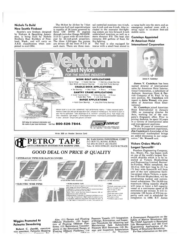 Maritime Reporter Magazine, page 12,  Nov 1983 Jim Casteleyn